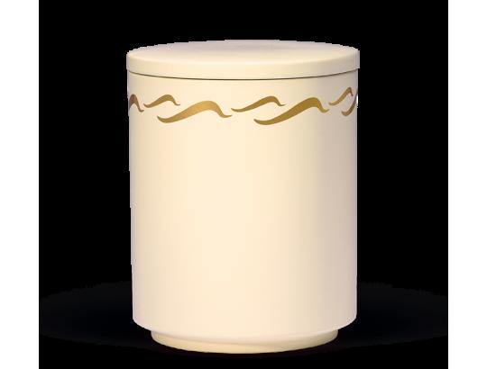 Seeurne, Sandbeige, gold Wellendekor
