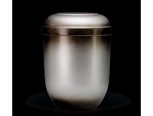 Naturstoffurne, Grau Schwarz patina