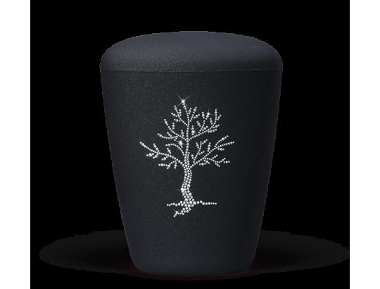 Anthrazit-Velours, Lebensbaum, mit hochwertigen Kristallen