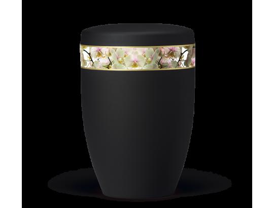 Anthrazit Velours, Dekor: Orchideenh