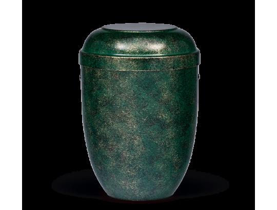 Stahlurne, Grün Bronze patiniert