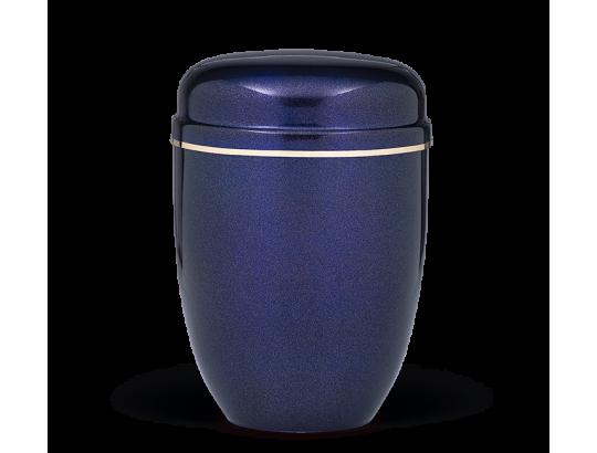 Stahlurne, Kobalt Blau Perlmutt, Goldband