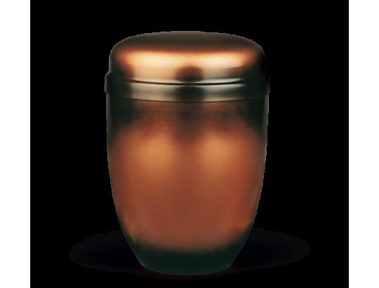 Stahlurne, Kupferfarbig Patiniert