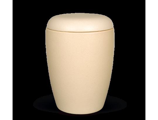 Keramikurne, Sandfarbig glasiert