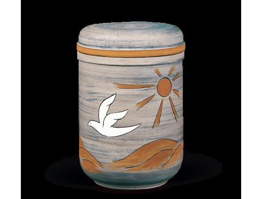 Keramikurne Naturfarben, Handwerkliche Bemalung