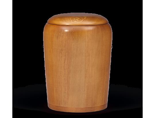 Holzurne Kiefer Honigfarbig gebeizt gedrechselt