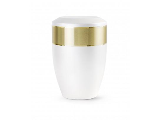Edition Aurum, gebürstetes umlaufendes Dekorband gold glänzend abgesetzt, Perlmutt