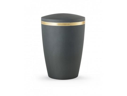 Alicante, gebürstetes Goldband glänzend eingefasst, Soft-Touch Anthrazit