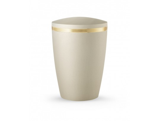 Alicante, gebürstetes Goldband glänzend eingefasst, Soft-Touch Champagner