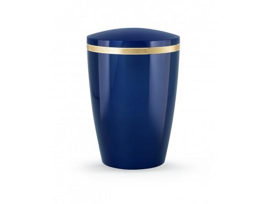 Billant, gebürstetes Goldband glänzend eingefasst, Hochglanz Königsblau