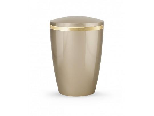 Billant, gebürstetes Goldband glänzend eingefasst, Hochglanz Champagner