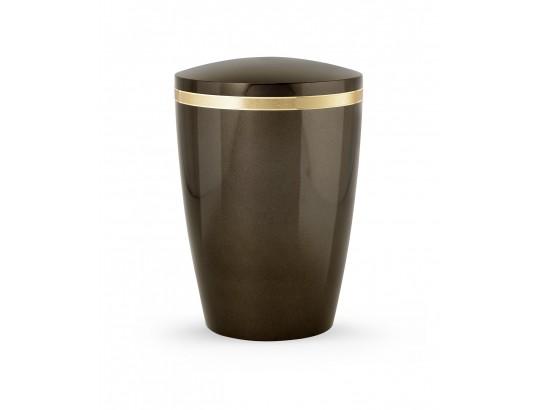 Billant, gebürstetes Goldband glänzend eingefasst, Hochglanz Siena