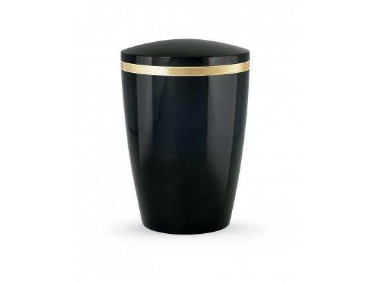 Billant, gebürstetes Goldband glänzend eingefasst, Hochglanz Schwarz