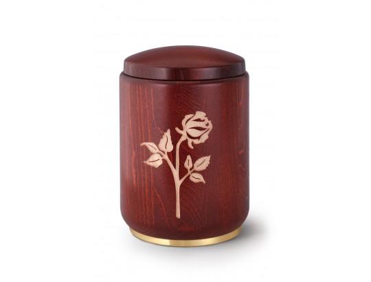 Buche, Beizung mahagoni Fräsung Rose, Messingsockel