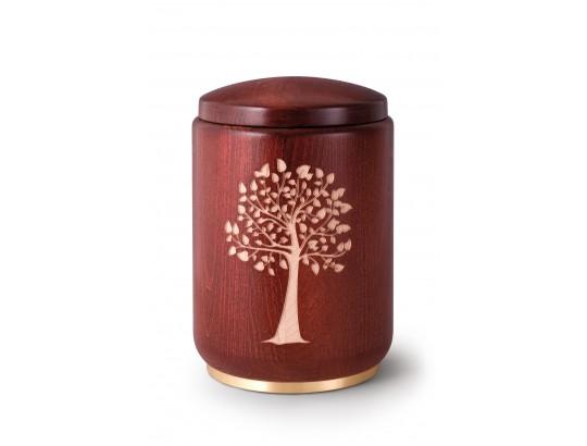 Buche, Beizung mahagoni Fräsung Baum, Messingsockel