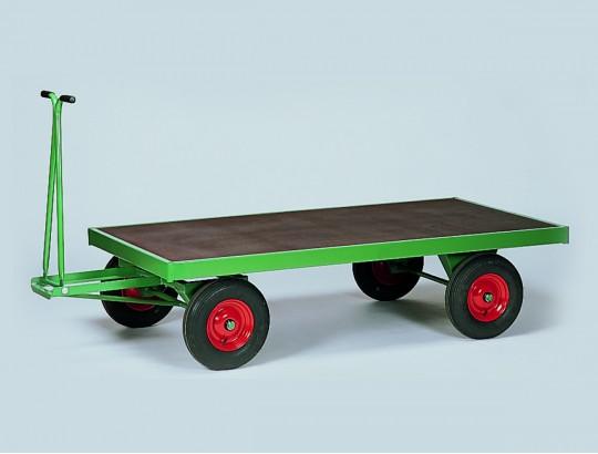 Handpritschenwagen 2000x1000 mm, Vollgummireifen, mit Bordwänden