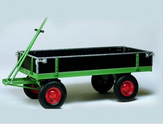 Handpritschenwagen 2400x1200 mm, Luftgummireifen, mit Bordwänden