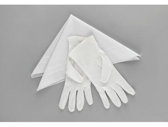 Trägerhandschuhe weiß