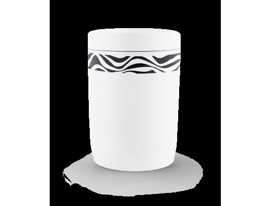Seeurne, Anhydrit-Tonolith, weiß, Dekor