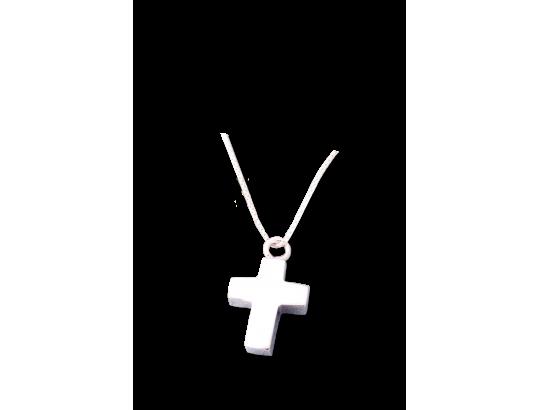 Am-Urn-Let, Kreuz, Sterlingsilber in Samtdose große Ausführung
