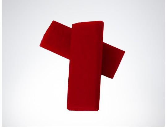 Dekostoffe Organza - Rot