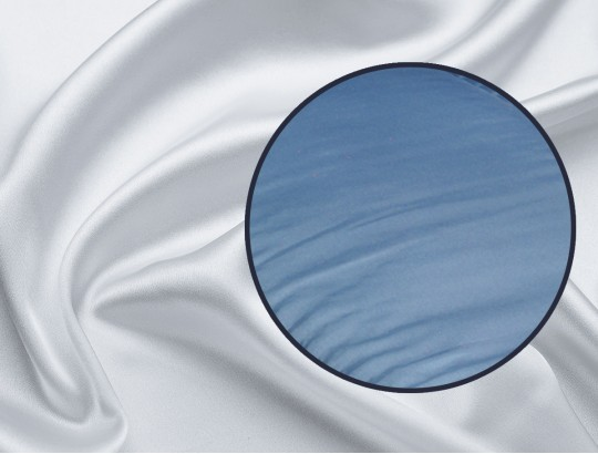 Laken Glanzseide hellblau