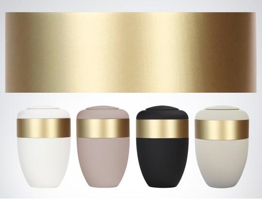 Ahornring gold lackiert für Ring-Urne