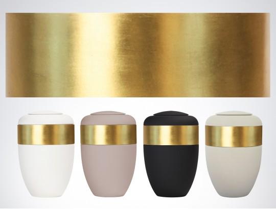 Blattgoldring für Ring-Urne