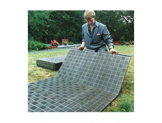 Bodenplatte aus PE-Recycling-Kunststoff