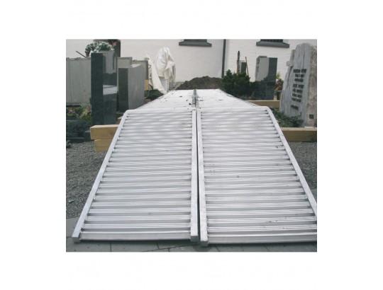 Auffahrschiene für Friedhofsbagger, ohne Rand 550 mm Fahrflächenbreite
