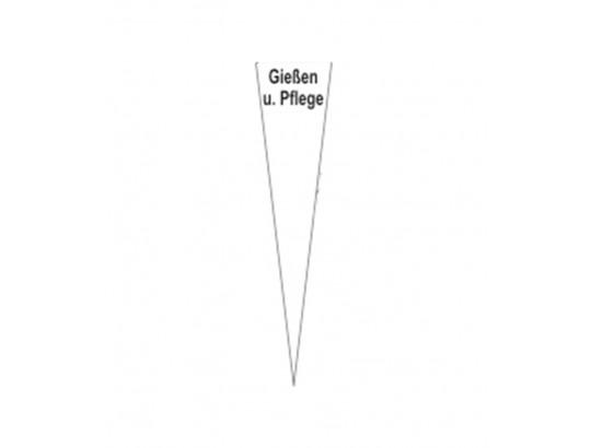 """Dreieck PVC-Schild """"Gießen und Pflege"""", 80 x 250 x 2 mm"""