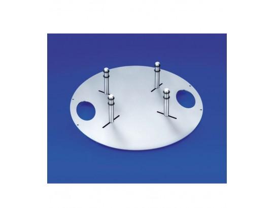 Urnentrage aus Edelstahl mit Griffmulden und 4 verstellbaren Bolzen