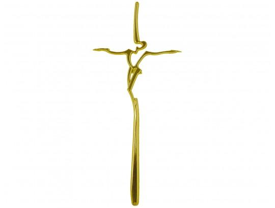 Sargkreuz Metall Gold glänzend, morderne Form