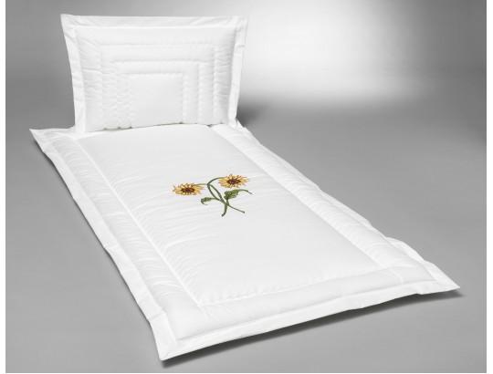 Baumwolle matt mit doppelter Sonnenblume